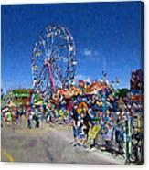 The Ferris Wheel At The Fair Canvas Print