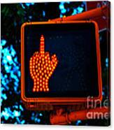 The Finger Canvas Print