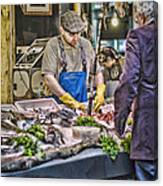 The Fish Monger Canvas Print