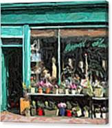 The Flower Shop Canvas Print