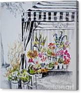 The Flower Stand Canvas Print