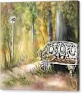 The Garden Bench Canvas Print