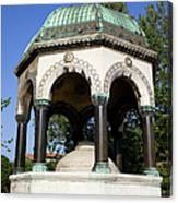 The German Fountain In Istanbul Canvas Print
