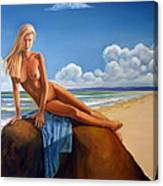 The Girl On The Rock Canvas Print