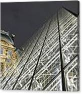 The Glass Pyramid And The Louvre At Dusk Canvas Print