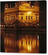 The Golden Temple Is Reflected Canvas Print