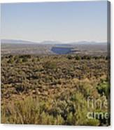 The Gorge On The Mesa Canvas Print