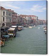 The Grand Canal In The Morning Canvas Print