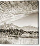 The Grand Tetons In Jackson Wyoming Canvas Print