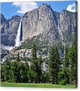 The Grandeur Of Yosemite Falls Canvas Print