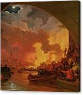 The Great Fire Of London Canvas Print