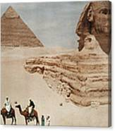 The Great Sphinx And The Second, Or Canvas Print