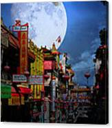 The Great White Egret Of Chinatown . 7d7172 Canvas Print