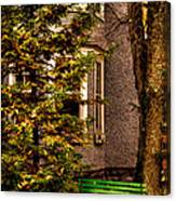 The Green Bench Canvas Print