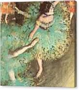 The Green Dancer Canvas Print