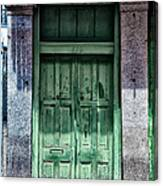 The Green Door In The French Quarter Canvas Print