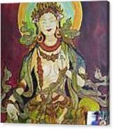 The Green Tara Canvas Print
