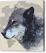 The Grey Canvas Print