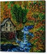 The Grist Mill in Autumn Canvas Print