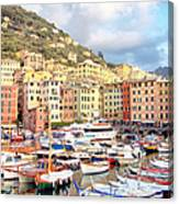 The Harbor At Camogli Canvas Print