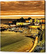 The Harbour At Tenby  Canvas Print