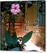 The Hibiscus Greeter Canvas Print