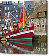 The Historic Fishing Village Of Honfleur Canvas Print