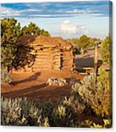 The Hogan Where  We Stayed Canyon Dechelly Nps Canvas Print
