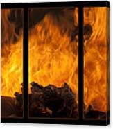 The Home Fires Are Burning Triptych Canvas Print