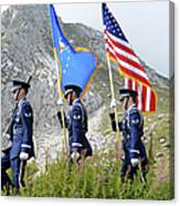 The Honor Guard Posts The Colors Canvas Print