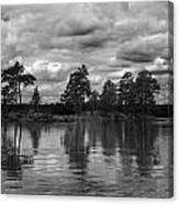 The Island In The Midlle In Bw Canvas Print