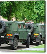 The Iveco Lmv Of The Belgian Army Canvas Print