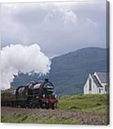 The Jacobite Express At Lochailort Church Canvas Print