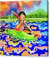 The Kayak Racer 12 Canvas Print