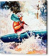 The Kayak Racer 18 Canvas Print