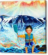 The Kayak Racer 5 Canvas Print