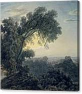 The Lake Of Albano And Castle Gandolfo  Canvas Print