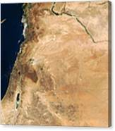 The Lands Of Israel Along The Eastern Canvas Print