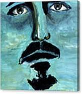 Blue Man In The Sky Surreal Portrait Unique Contemporary Figurative Fine Art Surrealism Decor Print Canvas Print