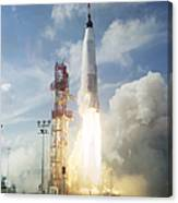 The Launch Of The Mercury-atlas 4 Canvas Print