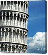 The Leaning Tower Of Pisa Italy Canvas Print