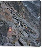 The Ledges On Longs Peak Canvas Print