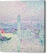 The Lighthouse At Antibes Canvas Print