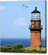 The Lighthouse On Martha's Vineyard Canvas Print