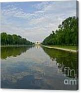 The Lincoln Memorial And Reflecting Pool Canvas Print