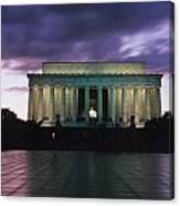 The Lincoln Memorial At West End Canvas Print