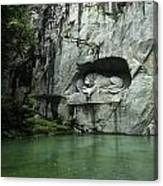The Lion Monument In Lucerne Honouring The Swiss Soldiers Killed During French Revolution Canvas Print