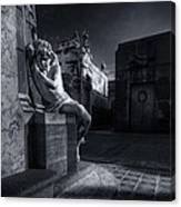 The Little Angel Recoleta Cemetery Ba Canvas Print