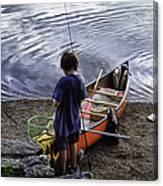 The Little Fisherman Canvas Print