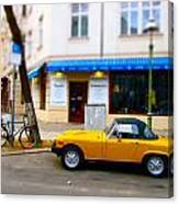 The Little Yellow Car Canvas Print